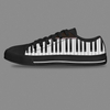 Black Piano Printing High Quality Casual Shoes
