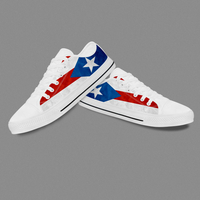 Handmade Famous Brands White Low Top Casual Shoes